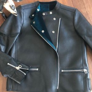 Sandro Paris Black Lamb Leather Jacket M